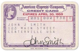 Die erste Kreditkarte