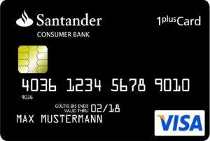 Kreditkarte Santander 1 Plus