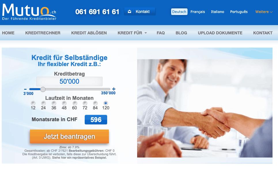 Kredit für Selbstständige in der Schweiz - Alle Infos & Tipps