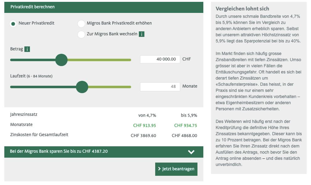 Migros Darlehen - Alle Infos Über Die Konditionen & Beantragung