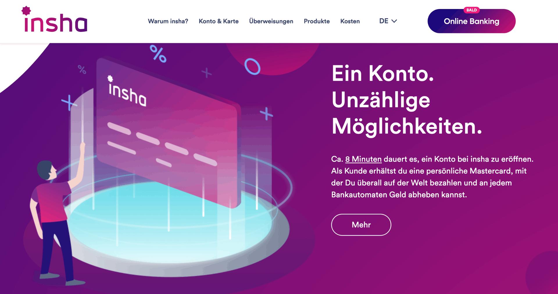 insha Debit Mastercard - Alle Infos Zu Den Konditionen & Zur Beantragung