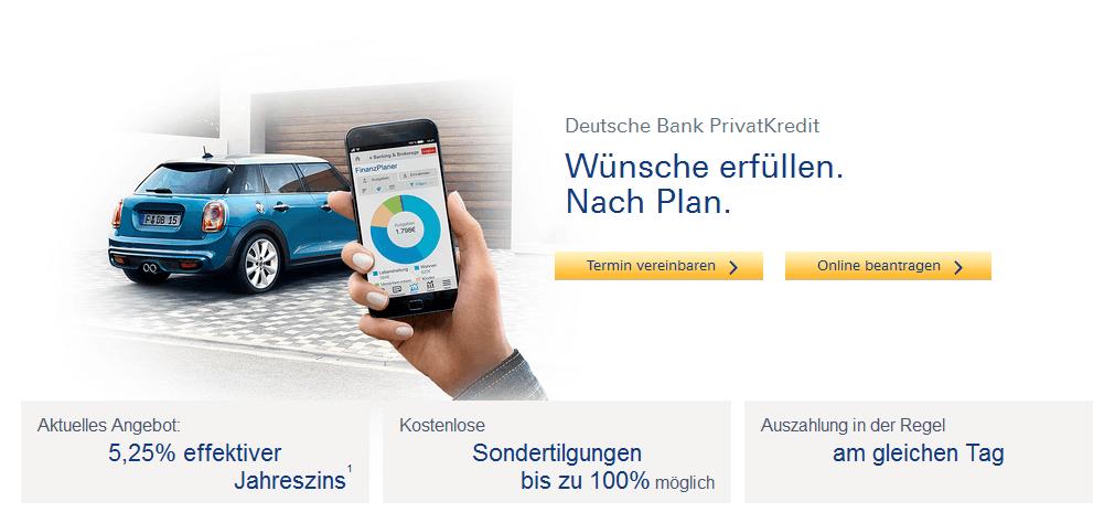 Deutsche Bank Privatkredit - Alle Infos Zur Beantragung & Den Konditionen