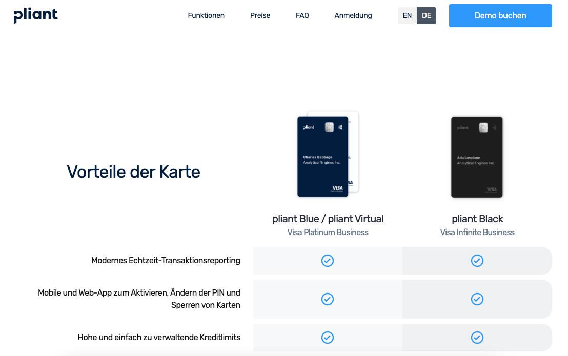 Pliant Visa Platinum Business Kreditkarte - Infos Zu Den Konditionen & Zur Beantragung
