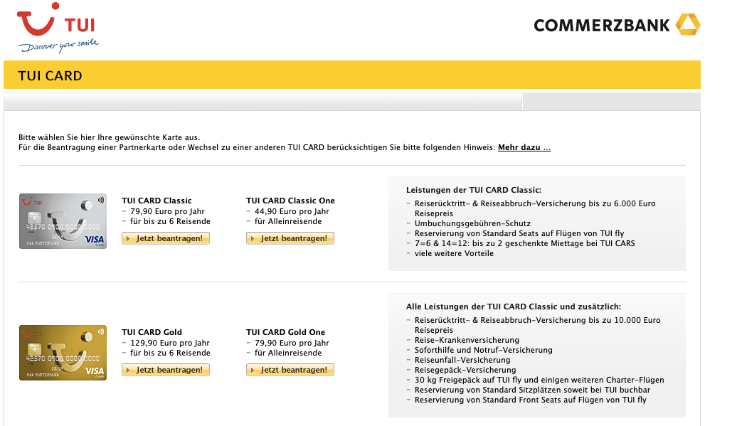 TUI Card Gold One - Alle Infos Zu Den Konditionen & Zur Beantragung
