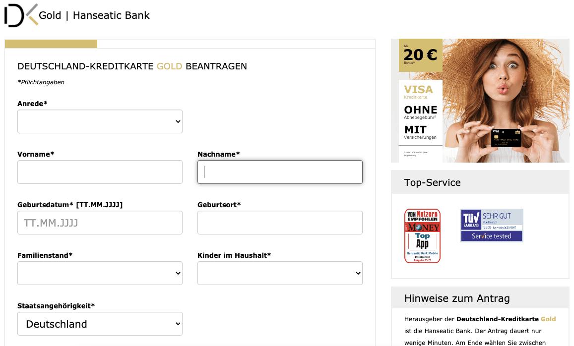 Deutschland Kreditkarte Gold - Alle Infos Zu Den Konditionen & Zur Beantragung