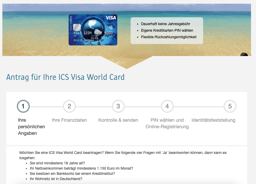 ICS Visa World Card - Alle Infos Zu Den Konditionen & Zur Beatragung